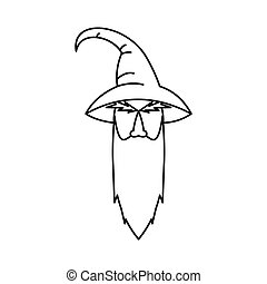Wizard icon, outline style