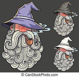 Wizard Portrait 2 - Portrait of wizard smoking pipe in 3...