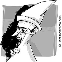 wizard sketch drawing illustration - Sketch Drawing...