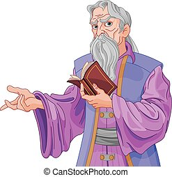 Wizard with Book