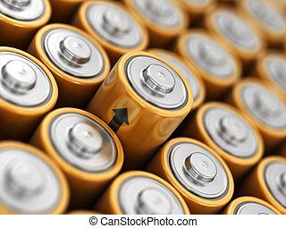 wizerunek, baterie, tło