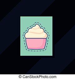 wizerunek, cupcake, ikona
