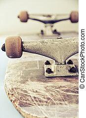 wizerunek, do góry szczelnie, skateboard