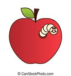 wizerunek, jabłko, ikona