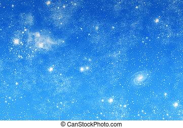 wizerunek, od, niejaki, piękny, gwiaździste niebo
