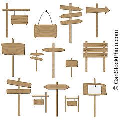 wizerunek, od, różny, drewniany, znaki, odizolowany, na, niejaki, biały, tło.