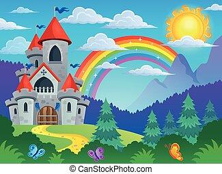 wizerunek, opowiadanie, temat, 4, zamek, wróżka