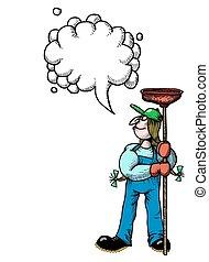 wizerunek, plumber-100, rysunek, samica