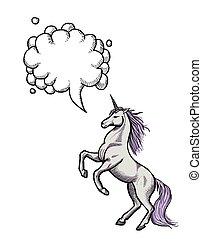 wizerunek, unicorn-100, rysunek