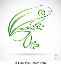 wizerunek, wektor, żaba
