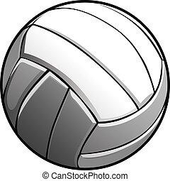 wizerunek, wektor, volleyball piłka, ikona