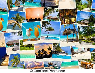 wizerunki, lato, malediwy, plaża