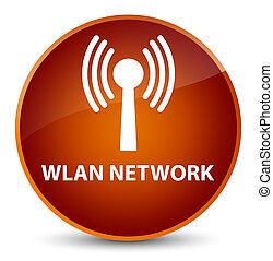 Wlan network elegant brown round button