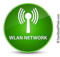 Wlan network elegant green round button