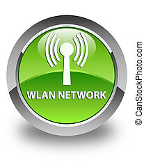 Wlan network glossy green round button