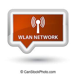Wlan network prime brown banner button