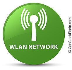 Wlan network soft green round button