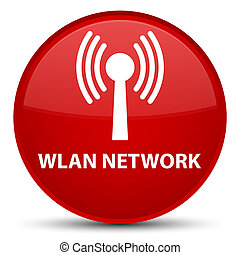Wlan network special red round button