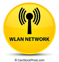 Wlan network special yellow round button