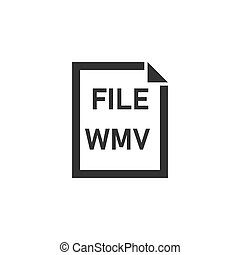 WMV File icon flat