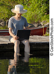 Woamn with laptop