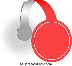 wobbler, reclame, rood