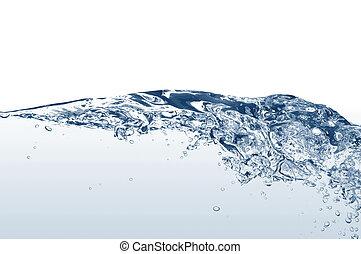 woda, świeży, bańki