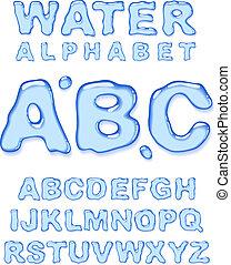 woda, alphabet.