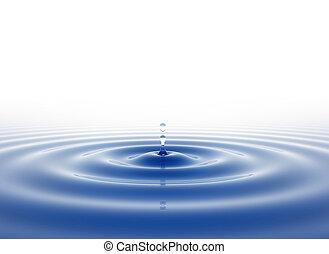 woda, biały, kropla, tło