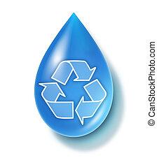 woda, czysty, symbol