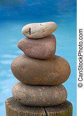 woda, kamień, waga, zen, tło