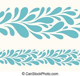 woda kapią, na białym, background.stylized, seamless,...