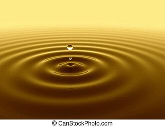 woda kapią, złoty