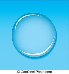 woda kropelka, błękitny