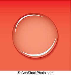 woda kropelka, czerwony