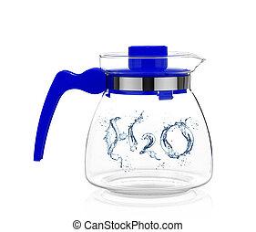 woda krople, h2o, mający kształt