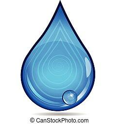 woda, logo, kropla