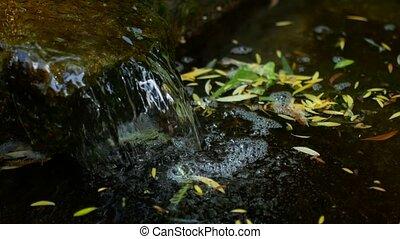woda, miejski, szybki, flow., fontanna