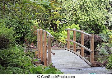 woda, most, na, drewno