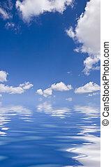 woda, na, chmury