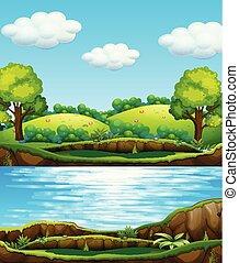 woda, natura, prospekt