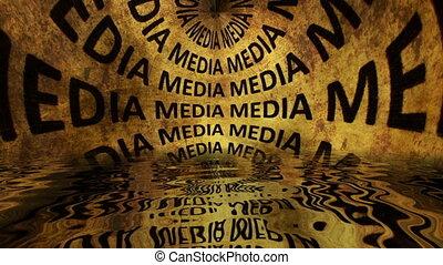 woda, odbijał się, tekst, media