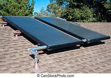 woda, ogrzewanie, słoneczny system