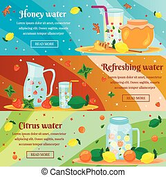 woda, płaski, chorągwie, detox, komplet