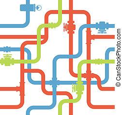 woda, rurociąg, seamless, tło