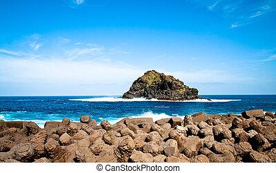 woda, wyspa, tenerife