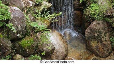 wodospad, park, japończyk