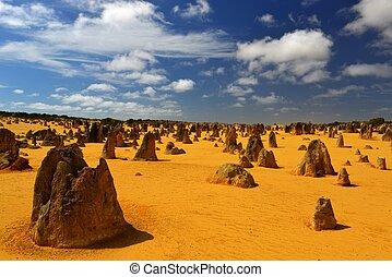 woestijn, australië, pinnacles