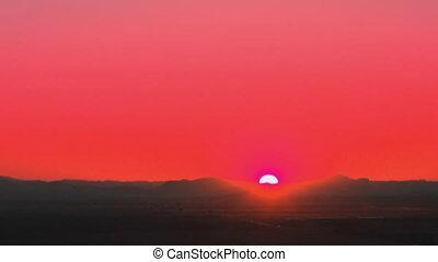 woestijn, zonopkomst