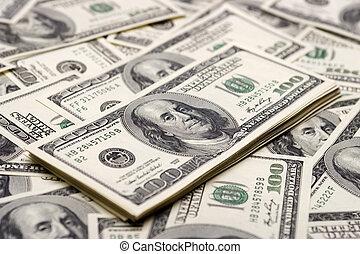 wohlstand, dollar, hundert, -, begriffe
